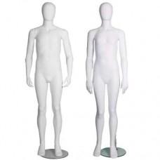 Girl or Boy Age 10-12 Mannequin Matt White