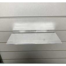 "Slatwall Shelf 12"" x 6"" Clear Moulded Shelf"