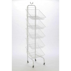 5 Tier Basket Unit On Wheels