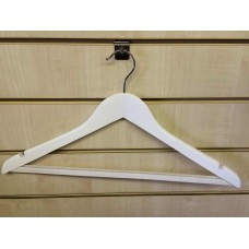 Adult Wooden White Hanger Non-Slip Bar 44cm