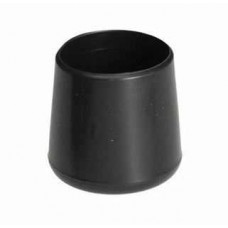 10 x 25mm Black Plastic Foot