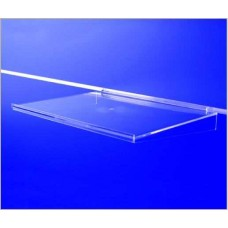 Clear Plastic Slatwall Shelf 400mm x 280mm