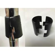 Chrome Wire Shelf Locking Clips Black Plastic Set