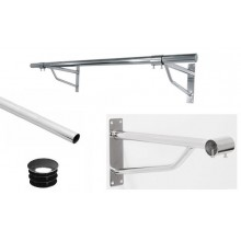 Wall Mounted Clothes Rail Tube Hanging System