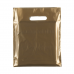 """Gold Fashion Carrier Bags Patch Handle 15"""" x 18"""""""