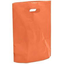 "Orange Fashion Carrier Bags Patch Handle 15"" x 18"""