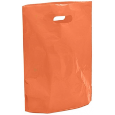 "Orange Fashion Carrier Bags Patch Handle 15"" x 18"""