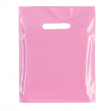 """Pink Fashion Carrier Bags Patch Handle 15"""" x 18"""""""