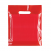 """Red Fashion Carrier Bags Patch Handle 15"""" x 18"""""""