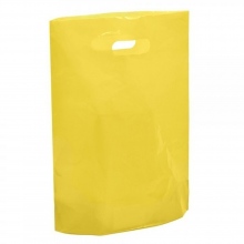 """Yellow Fashion Carrier Bags Patch Handle 15"""" x 18"""""""
