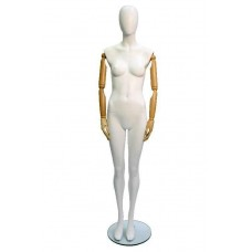 Articulated Fibreglass Female Mannequin Upright Pose