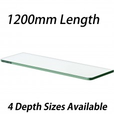 1200mm Toughened Glass Shelves