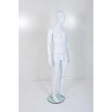 Male Gloss White Plastic Mannequin Abstract 329