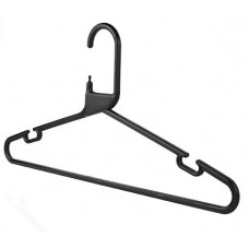 Adult Plastic Black Hangers Box 120