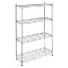 Chrome Wire Shelving Unit 1800mm H x 350mm D