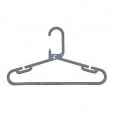 Adult Plastic Dark Grey Hangers Box 120