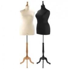 Size 22 Female Bust Form Complete Fuller Figure