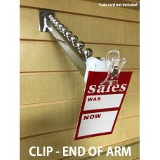 End Of Arm Clip To Display Point Of Sale Price Graphic