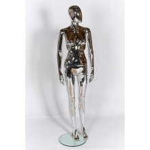 Female Egg-Head Mannequin Chrome Plastic 309