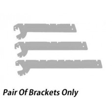 Shelf Brackets To Fit Gondola and Perimeter Shelving Units (Pair)