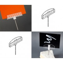 Metal Pin Card Holders x 5