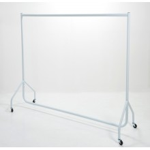 Compact Flat Packed Adult White Gloss Garment Rails 5ft/6ft Long