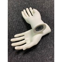 Pair of MALE White Plastic Second Mannequin Hands