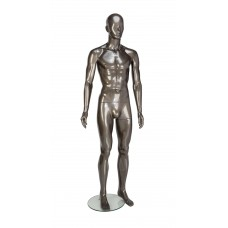 Male Painted Gloss Pewter Abstract Egg-Head