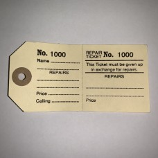Repair Tickets Labels Laundry Watch Jewellery Tag