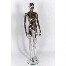 Female Abstract Mannequin Chrome Plastic 315