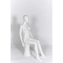 Female Sitting Egg-Head Mannequin