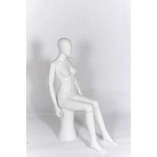 Female Sitting Egg-Head Mannequin