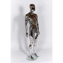 Male Egg-Head Plastic Mannequin Chrome R327