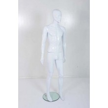 Male Gloss White Plastic Mannequin Abstract 330