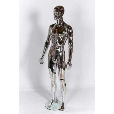 Male Abstract Plastic Mannequin Chrome 332