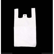 Recycled White Budget Carrier Bags