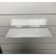 "Slatwall Shelf 12"" x 6"" Clear Moulded Shelf"