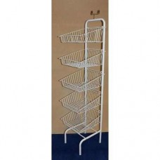 5 Tier White Basket Unit