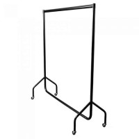 Adult Black Economy Garment Rails. Flat Packed. Various Sizes. 3ft, 4ft, 5ft, 6ft Long