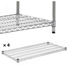 Set Of 4 Chrome Wire Shelves To Make Shelving Unit