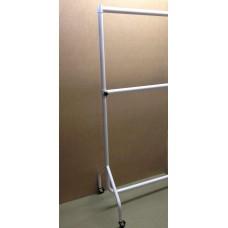 Heavy Duty Adult White Gloss Garment Rail - Double Height. Various Sizes.