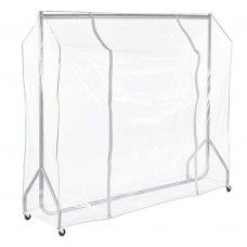 Clear PVC Garment Rail Covers.