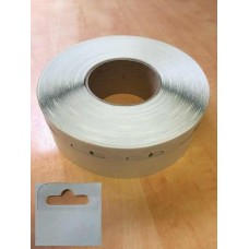 Clear Sticky Euro Hook Slot Hang Tab 1000 Roll 50 x 50mm Strong Tack Adhesive