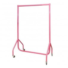 Heavy Duty Flat Packed Adult Barbie Pink Gloss Garment Rails. Various Sizes.