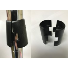 Chrome Wire Shelf Locking Clips Black Plastic Set