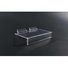 Clear Plastic Slatwall Shoe Shelves With Ticket Holder