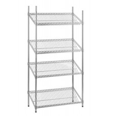 Chrome Wire Sloping Shelving Unit