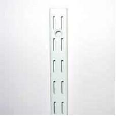 White Twin Slot Wall Uprights
