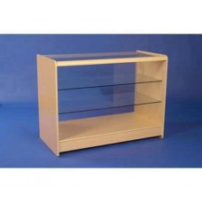 Glass Fronted Showcase 1200mm 2 Shelves Maple