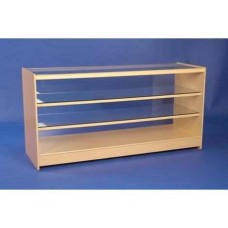 Glass Fronted Showcase 1800mm 2 Shelves Maple